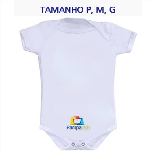 Body LISO Bebê Manga Curta Branco - para sublimação