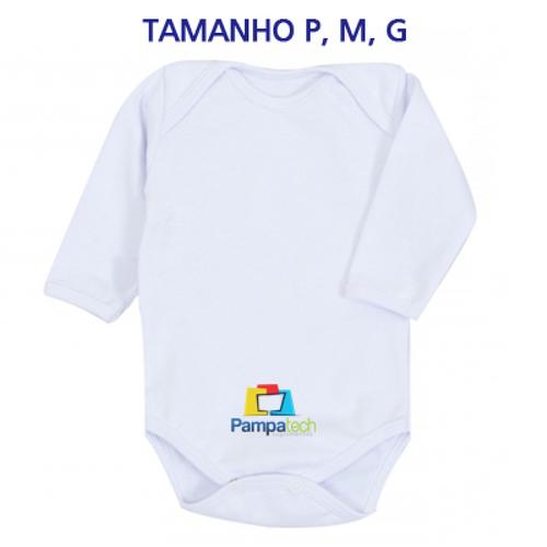 Body LISO Bebê Manga Longa, Branco - para sublimação