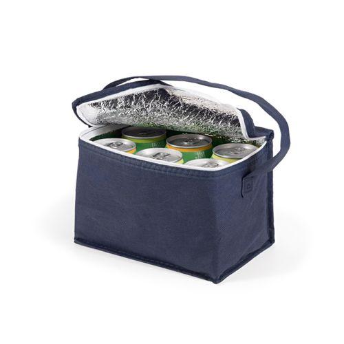Bolsa térmica 80 g/m² 6 latas transfer azul