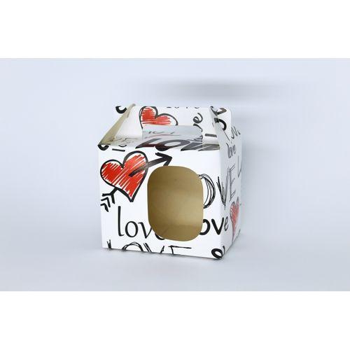 Caixinha para caneca - LOVE - 5 unidades