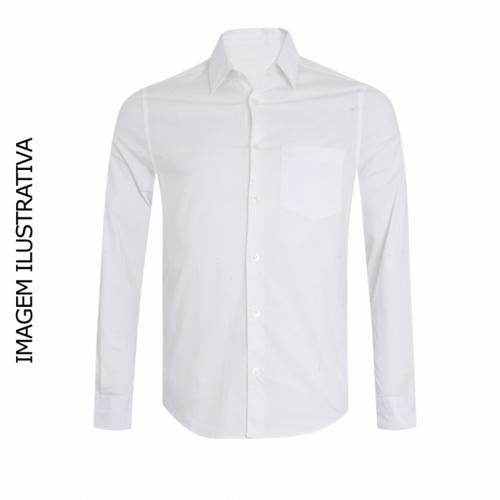Camisa Social Manga Longa Sublimável, Branca