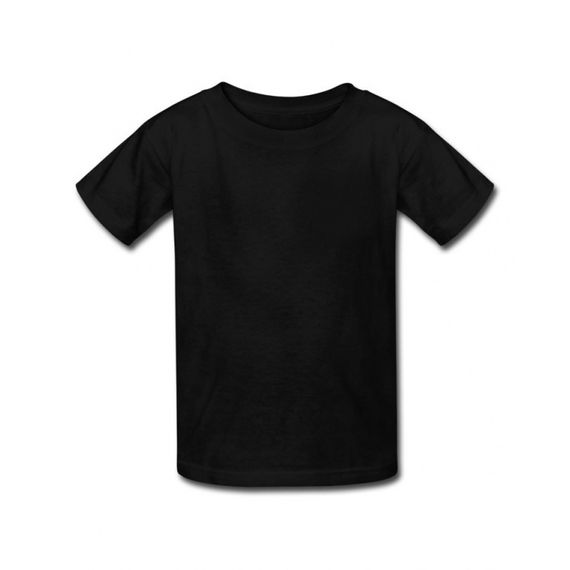 Camiseta 100% algodão - Preta - gramatura 165