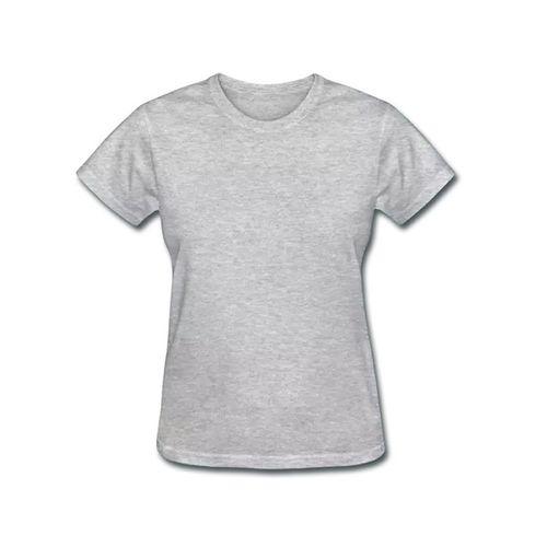 Camiseta Baby Look Adulto para Sublimar - CINZA MESCLA