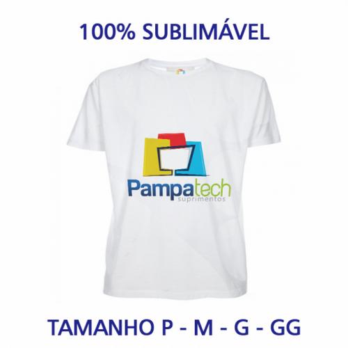 Camiseta Baby Look Adulto para Sublimar - Tecido Branco