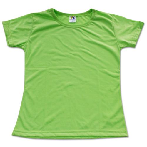 Camiseta Baby Look Adulto para Sublimar - Tecido VERDE