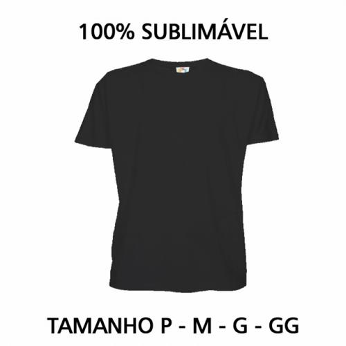Camiseta Baby Look Adulto para Sublimar - Tecido Preto