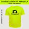 Camiseta Dry Fit Lisa - Tecido Amarelo