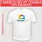 Camiseta Dry Fit Colméia - Tecido Branco