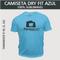Camiseta Dry Fit Lisa - Tecido Azul