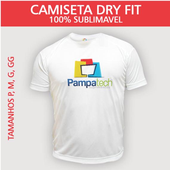 Camiseta Dry Fit Lisa - Tecido Branco