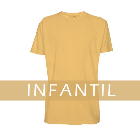 Camiseta INFANTIL Colorida BEGE