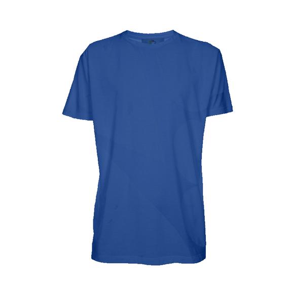 Camiseta Manga Curta Adulto para Sublimar - Tecido Azul Royal