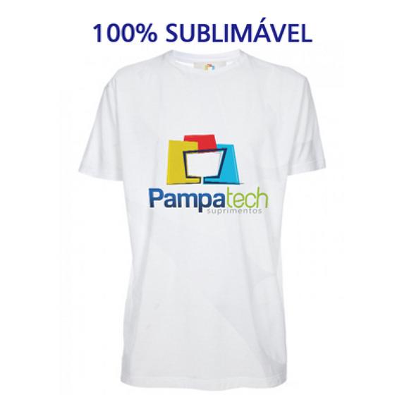 Camiseta Poliéster Branca - Adulto - Manga Curta