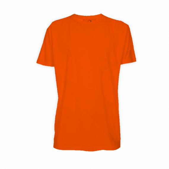 Camiseta Poliéster Laranja - Adulto - Manga Curta