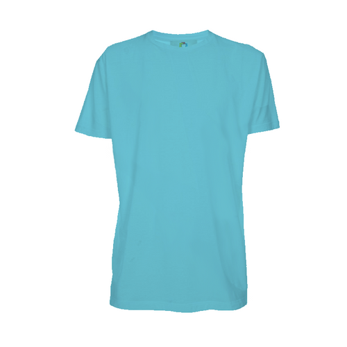 Camiseta poliéster adulto azul turquesa - NOVA COR