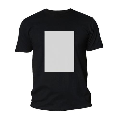 Camiseta Poliéster Preta c/ tarja Branca Masculina - NOVIDADE