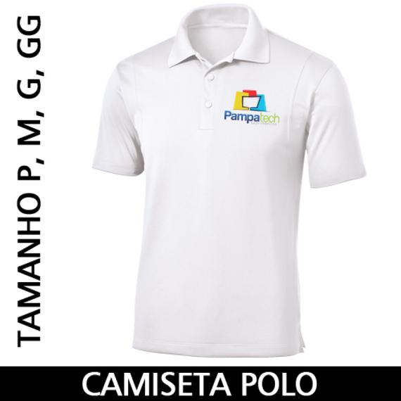 Camiseta Polo Adulto para Sublimar - Tecido Branco