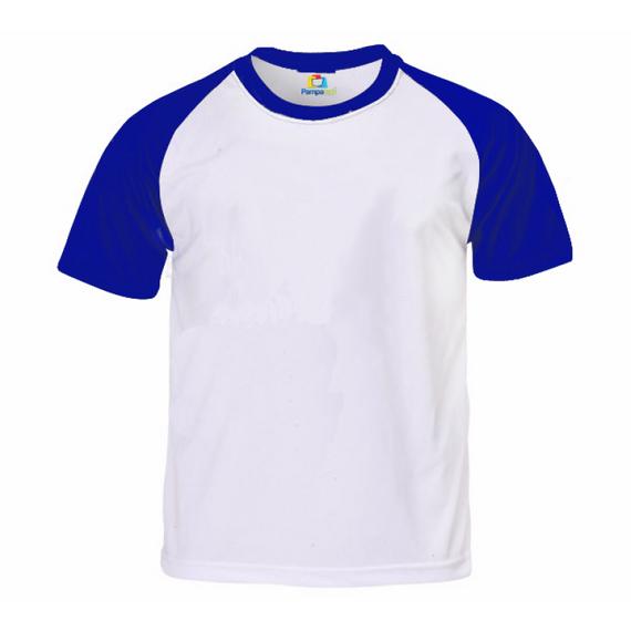 Camiseta RAGLAN AZUL Manga Curta Adulto para Sublimar