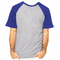Camiseta RAGLAN CINZA MESCLA - Manga Curta COR AZUL ROYAL