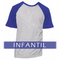 Camiseta RAGLAN MESCLA - INFANTIL - MANGA AZUL ROYAL