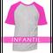 Camiseta RAGLAN MESCLA - INFANTIL - MANGA PINK