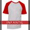 Camiseta RAGLAN MESCLA - INFANTIL - MANGA VERMELHA