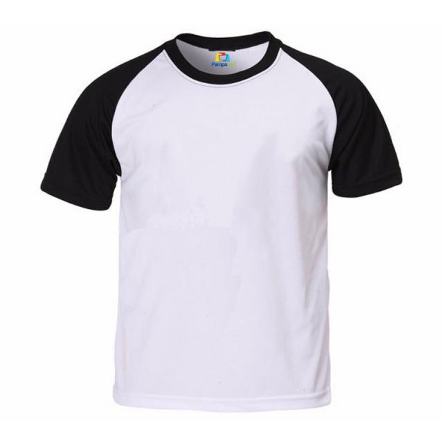f8ed8aa01f9a Camiseta RAGLAN PRETA Manga Curta Adulto para Sublimar