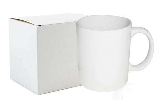 Caneca Branca para Sublimação - CAIXA 36 unidades - COM CAIXINHA INDIVIDUAL