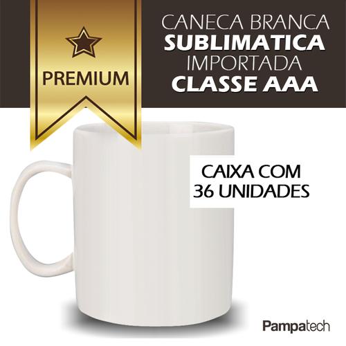 Caneca Branca para Sublimação - CAIXA 36 unidades - PREMIUM