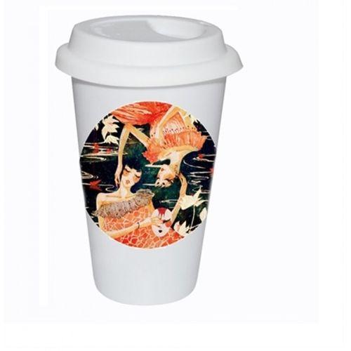 Caneca Cerâmica Branca Café StarBucks 325ml P/ Sublimação