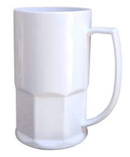 Caneca chopp plástica premium sublimável branca