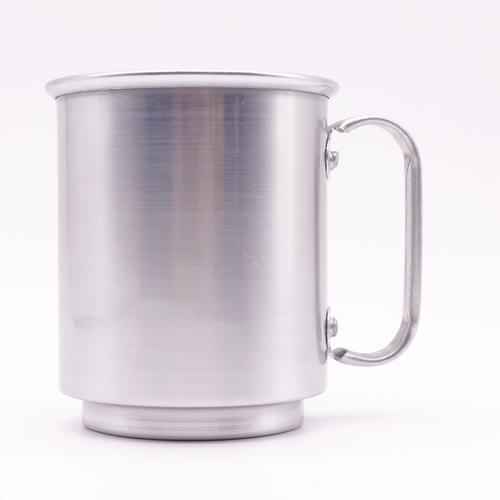 Caneca de alumínio 400ml brilho - formato baixinha