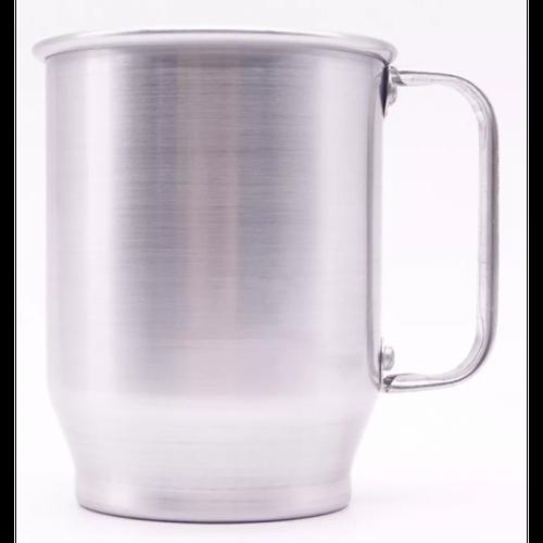 Caneca de alumínio 500ml brilho - formato baixinha
