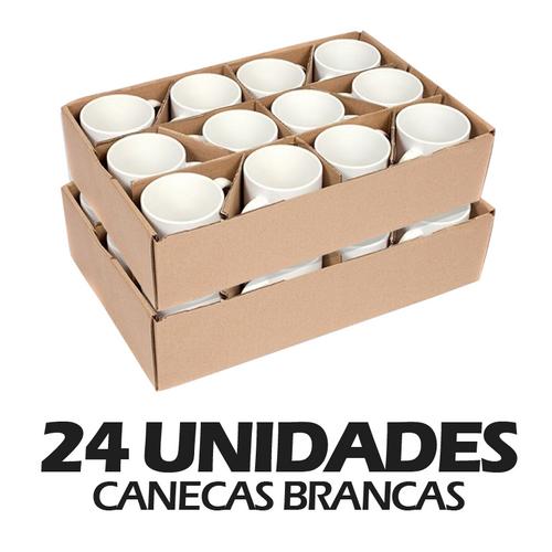 Caneca de Cerâmica Branca para Sublimação - 24 unidades