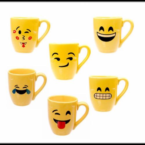Caneca Emoji - smile para Sublimação - 325 ml