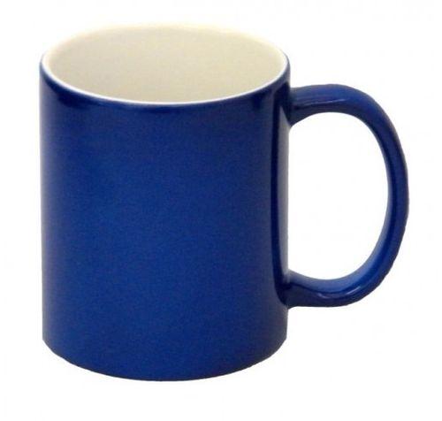 Caneca Mágica de Cerâmica Azul Resinada, 325mls