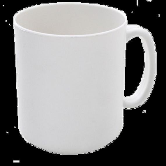 Caneca Plástica Branca para Sublimação, 325mls