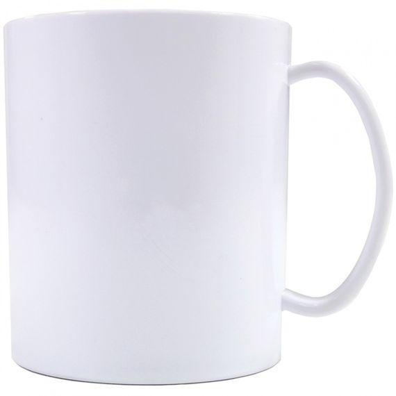 Caneca Plástica Branca TRANSFER LASER, 325mls