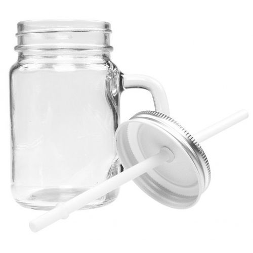 Caneca manson jar pote vidro para sublimar 400ml - MASON
