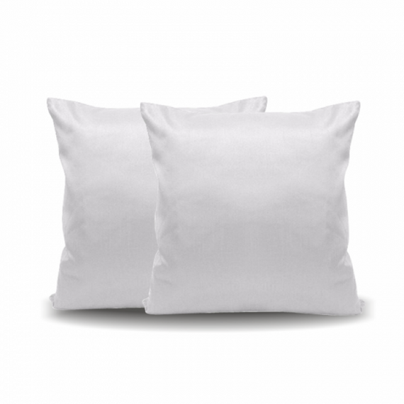 Almofada Aveludada Branca - 30cm x 30cm (Capa + Enchimento)