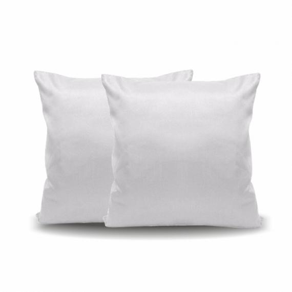 Almofada Aveludada Branca 40x40cm (Capa + Enchimento)