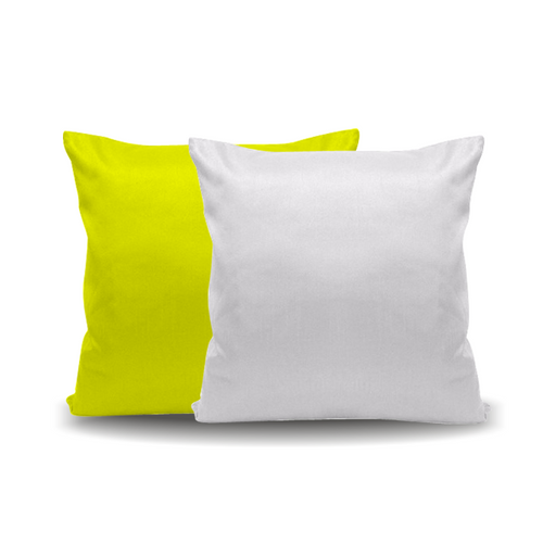 Almofada Amarela - 40 cm x 40 cm (Capa + Enchimento)