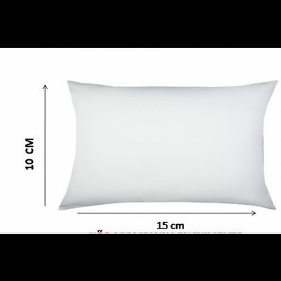 Almofada Branca 10x15cm (Capa + Enchimento)