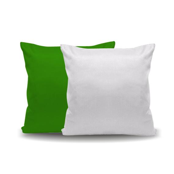 Capa de Almofada com Enchimento Verde - 40x40 cm