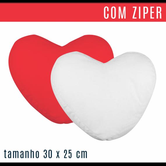 Capa de Almofada - Formato Coração Pequeno COM ZIPER - tamanho 30 x 25 cm