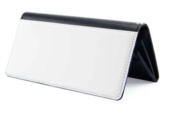 Carteira de Courino Duas Dobras para Sublimação 20,4x9,4cm