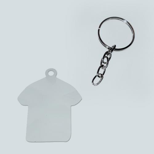 Chaveiro de metal - Formato camisetinha