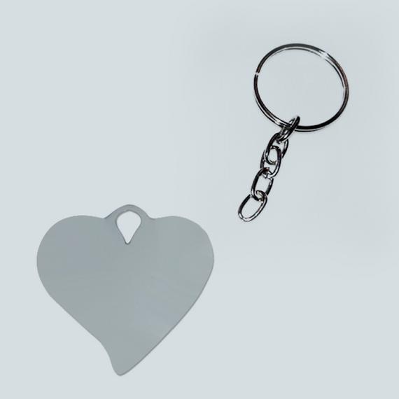 Chaveiro de metal - Formato coração