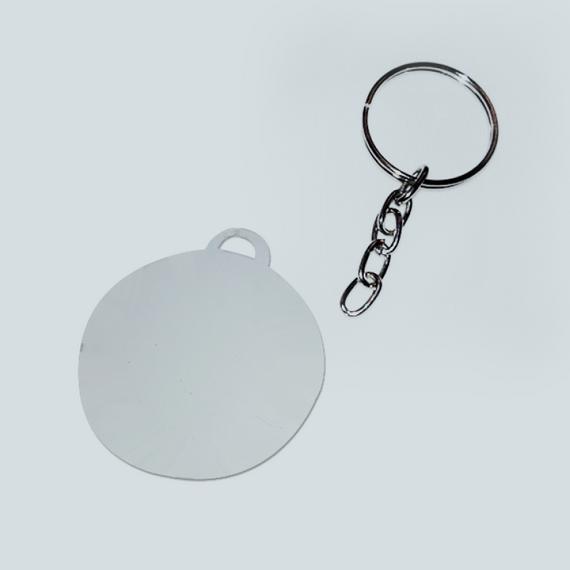 Chaveiro de metal - Formato redondo