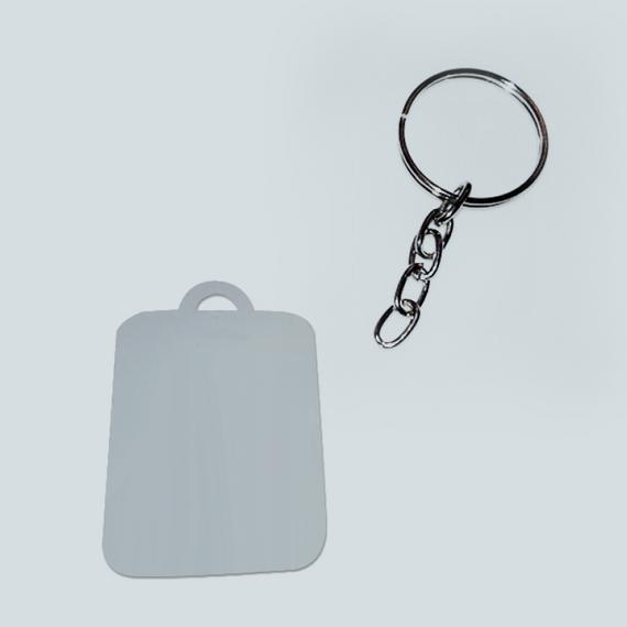 Chaveiro de metal - Formato retangular pequeno